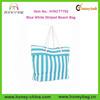 2014 Fashion Stripe Straw Beach Bag Tote Trendy 2014 Blue White Striped Beach Bag