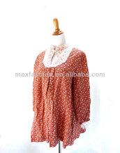 cosecha más el tamaño de hippie blusa blusa floral boho camisa blusa de la parte superior de la maternidad