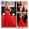 SA6702 Elegant V neckline red designer one piece party dress prom dresses made in china
