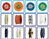 High quality aluminium alloy bearing roller,U groove roller plastic bearing