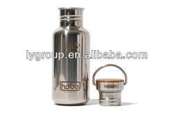 Stainless bottle Bamboo Cap ,sStainless Steel Bottle Cap Replacement, Stainless or Bamboo