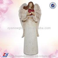 Polyresin large antique angel figurine
