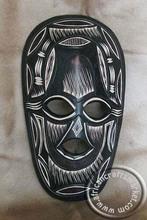 africanos de madera tallada a mano zulu máscara de secreto