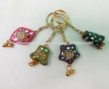 Rajasthani Handicraft Gift- Lac Key Chain Keyrings