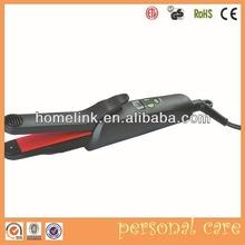 Digital LCD Tourmaline Ceramic Hair Straightener Iron Temperature Adjust
