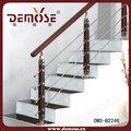 de acero inoxidable barandilla de madera para la casa de la escalera
