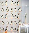 PEVA penguin design bath shower curtain