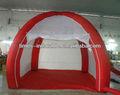 blanco y rojo inflables tienda de cuna para el camping
