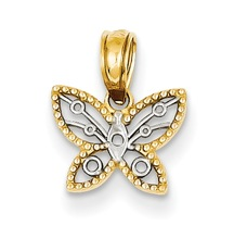 Jewellery 14k Two-tone Mini Butterfly Pendant Gold Jewelery and Gold Jewellery Dropship Available