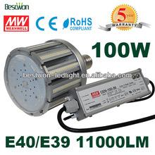 External driver E40 E39 100W Led Corn Lamp cool white for garden lamp