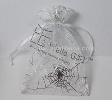 Printed Halloween themed custom organza bags