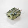 110V USB Home Charger with Full Color Hydrographic Printing