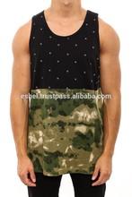 Front Sublimation Tiger Print Vest/Front print custom designs tshirt/high fashion men clothing