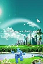 la protección de medio ambiente de la publicidad del cartel
