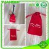 China manufacturer 100% natural black velvet backpack drawstring bag