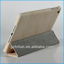 white 3 folding leather briefcase for ipad mini