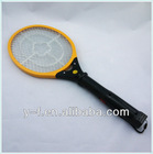 Battery&rechargable with 1 LED light rechargeable electrical mosquito racket