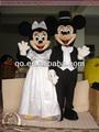 competitve preço de mickey e minnie mouse mascote fantasia para adultos