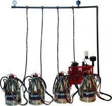Tulsan fijo sistema de cuádruple de ordeño / de aluminio cubos / de goma trazadores de líneas ( vaca )