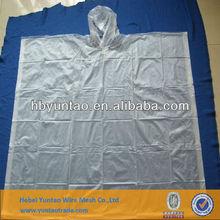 Cheap price PE 0.02mm raincoat/rain poncho for sale