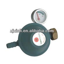Auto de alta calidad de gas glp reguladores de presión con el metro, de aleación de zinc de la válvula de gas con el niño del interruptor de bloqueo