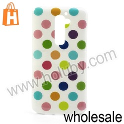 New Product Polka Dots Pattern TPU Case for LG Optimus G2 D801 D802