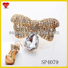 Lady Top Fashion Glass Butterfly Shoe Clip