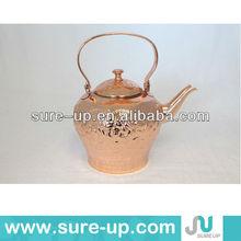 Antique copper metal tea pot water jugs