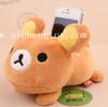 Custom high quality plush bear phone holder toys