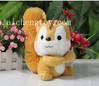 OEM fashion soft plush squirrel toys, cute squirrel plush toy