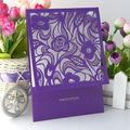 Corte a laser cartão convite de casamento/originais do casamento convite cartões/livre impressão do cartão de casamento