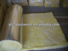 Glass wool acoustical and thermal insulation building material