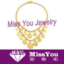 wholesale fashion design coin pendant necklace for lady