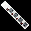 Universal electric multiple power extension socket power trip