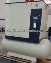 Oil Lubricated Combined Electric Screw Air Compressor with 300 L Air Tank