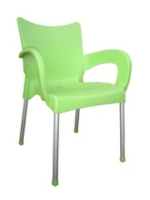 Garden Chair apple green stackable plastic chairs with arms