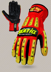 HIGH VIS OILFIELD & GAS / MINING GLOVES / IMPACT RESISTANCE EN388 CERTIFIED