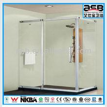 Stainless Steel framed fancy bathroom shower/shower door