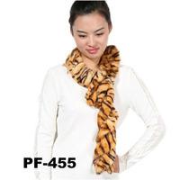 2014 new design wholesale long chic faux fur tiger stripes scarf