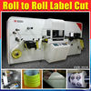 Full automatic printed label die cutting machine lasers