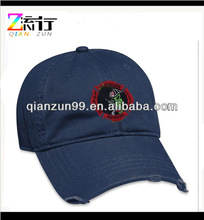Fashion Cotton 3D Embroidery Baseball Sport Cap And Hat Torn