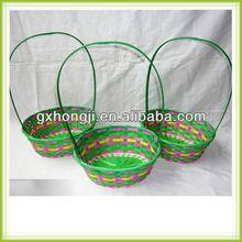 Venta al por mayor cestas de pascua pascua cesta de bambú de bambú de la flor arreglos florales