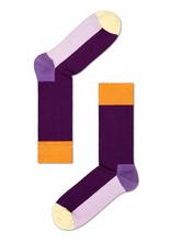 Fun Socks for Bulk Wholesale Custom Happy Purple Business Dress Sock Man