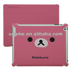 pink Transformer leather case cover For iPad for ipad air