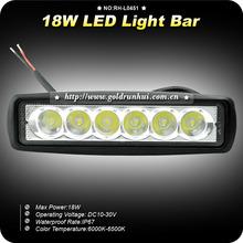 GoldRunhui RH-L0451 18W car led light bar offroad Jeep ATV UTV motocycle light