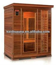 luxury infrared sauna room for 3 people KD-5003HT, out door sauna room, mobile sauna room