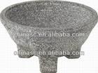Three-leg stone dinner bowl porcelain on steel cookware