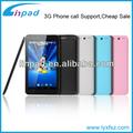 China fornecedor de tablet pc barato 3g/mtk8312 dual core cortex a7 gps+bt+fm+atv+two sim