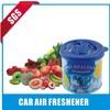 fruit-scented custom logo print perfumed car air freshener factory price wholesales