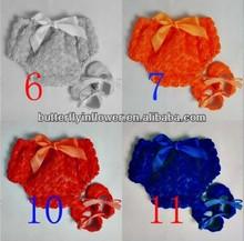 Lovely Rosette Bloomers For Newborn Baby ruffle panties baby panties bloomer Flower Diaper covers set